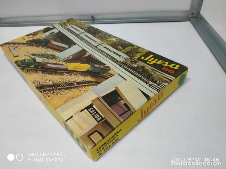 Juguetes antiguos Jyesa: juego de trenes jyesa H0 en caja nunca jugado perfecto estado de coleccion locomotora vias trenes - Foto 16 - 167887476