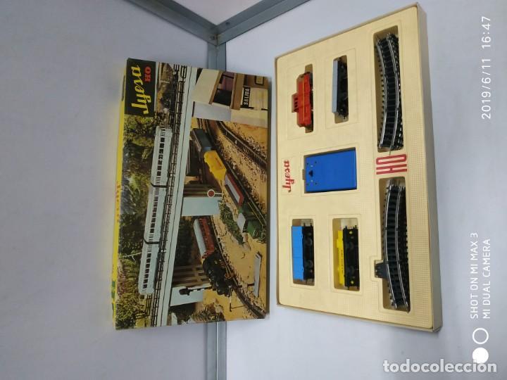 Juguetes antiguos Jyesa: juego de trenes jyesa H0 en caja nunca jugado perfecto estado de coleccion locomotora vias trenes - Foto 17 - 167887476
