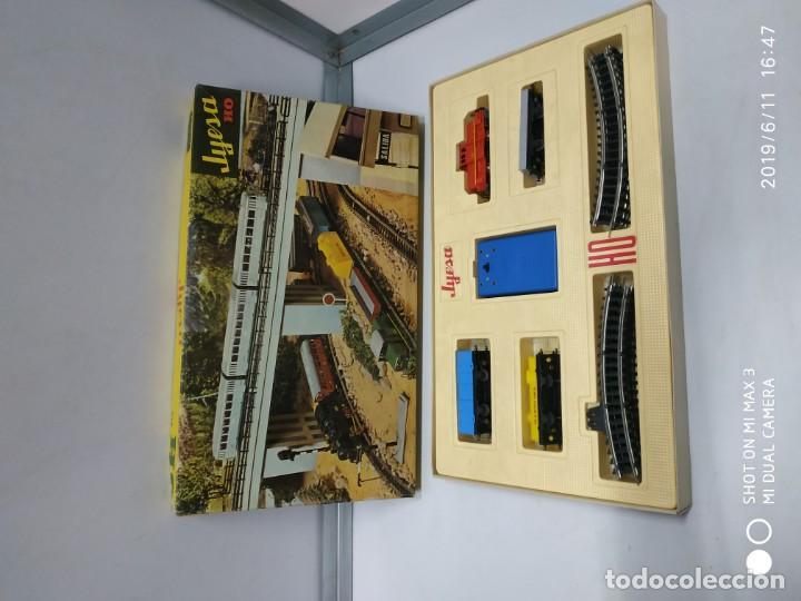 Juguetes antiguos Jyesa: juego de trenes jyesa H0 en caja nunca jugado perfecto estado de coleccion locomotora vias trenes - Foto 19 - 167887476