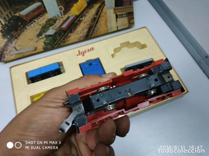 Juguetes antiguos Jyesa: juego de trenes jyesa H0 en caja nunca jugado perfecto estado de coleccion locomotora vias trenes - Foto 21 - 167887476