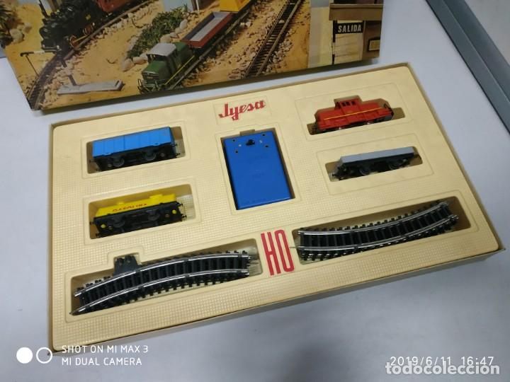 Juguetes antiguos Jyesa: juego de trenes jyesa H0 en caja nunca jugado perfecto estado de coleccion locomotora vias trenes - Foto 22 - 167887476