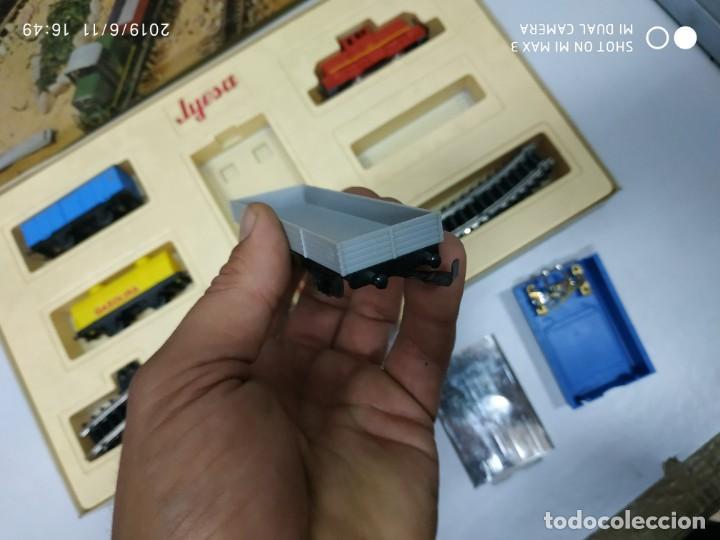 Juguetes antiguos Jyesa: juego de trenes jyesa H0 en caja nunca jugado perfecto estado de coleccion locomotora vias trenes - Foto 27 - 167887476