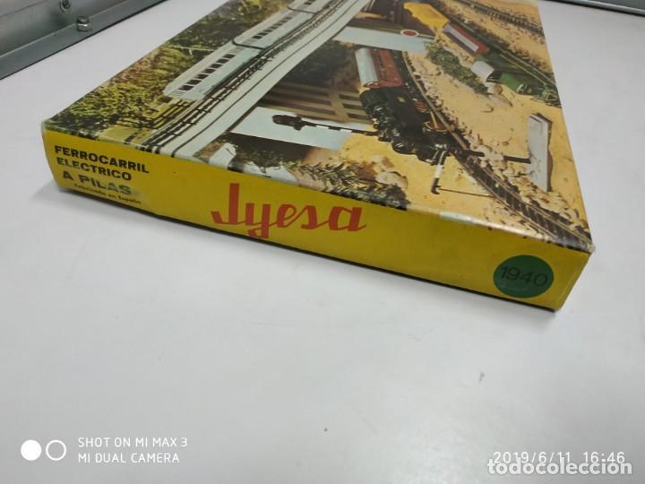 Juguetes antiguos Jyesa: juego de trenes jyesa H0 en caja nunca jugado perfecto estado de coleccion locomotora vias trenes - Foto 28 - 167887476