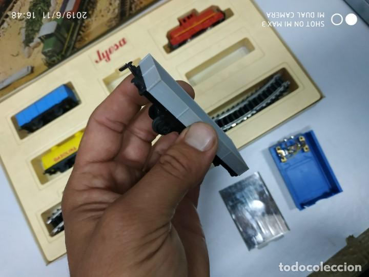 Juguetes antiguos Jyesa: juego de trenes jyesa H0 en caja nunca jugado perfecto estado de coleccion locomotora vias trenes - Foto 29 - 167887476