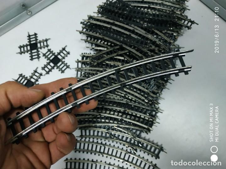 Juguetes antiguos Jyesa: lote de de vias de tren jyesa 80 curvas crucetas y recta Ho juego vintage antiguo - Foto 10 - 168215852