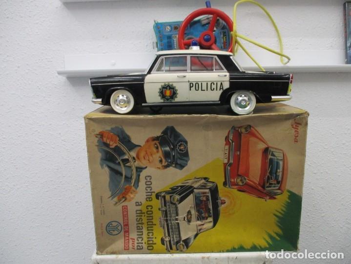 COCHE POLICIA PATRULLA CONTROL DE MANDO - JYESA - SEAT 1500 - CAJA ORIGINAL - REF 405 (Juguetes - Marcas Clásicas - Jyesa)