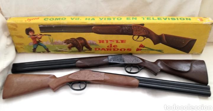 Juguetes antiguos Jyesa: Dos Rifles Dardos Jyesa años 60. - Foto 2 - 182699608