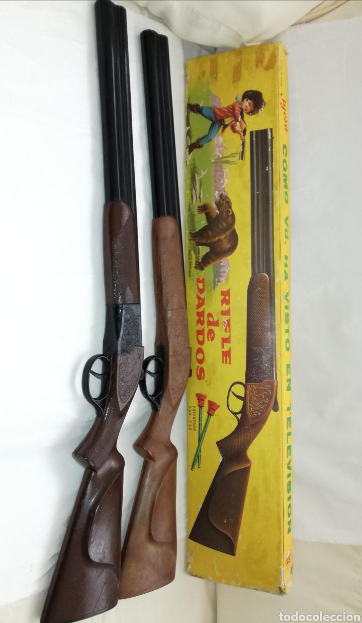 Juguetes antiguos Jyesa: Dos Rifles Dardos Jyesa años 60. - Foto 6 - 182699608