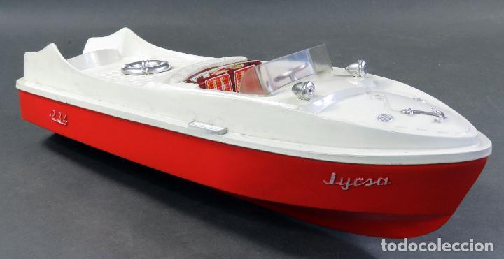 Juguetes antiguos Jyesa: Barca lancha Jyesa 234 plástico años 60 - Foto 3 - 184447292