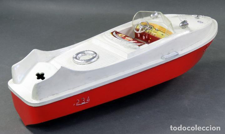 Juguetes antiguos Jyesa: Barca lancha Jyesa 234 plástico años 60 - Foto 4 - 184447292