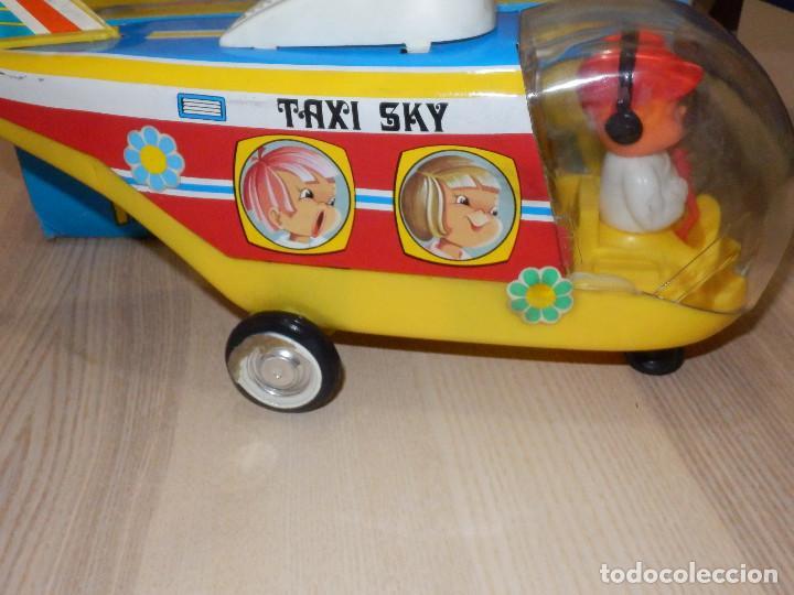 Juguetes antiguos Jyesa: Juguete Nº 184 de Hojalata - Helicóptero Taxi-Ski - Jyesa - Nuevo con Caja Original - Fricción - Foto 4 - 191556117