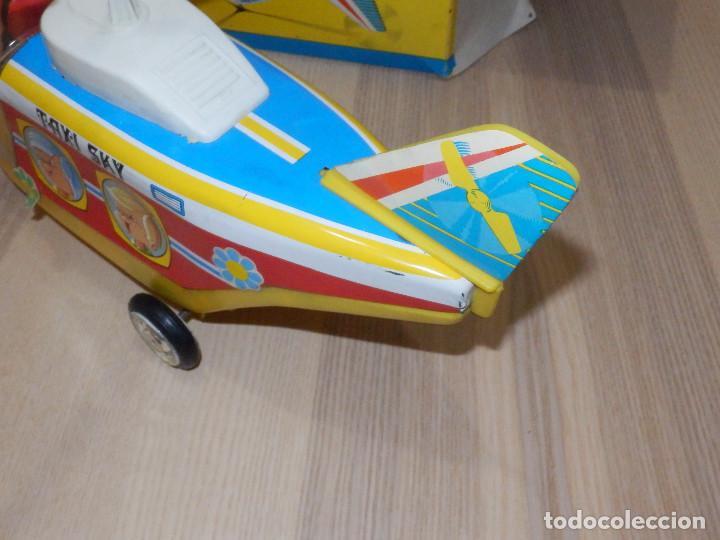 Juguetes antiguos Jyesa: Juguete Nº 184 de Hojalata - Helicóptero Taxi-Ski - Jyesa - Nuevo con Caja Original - Fricción - Foto 8 - 191556117