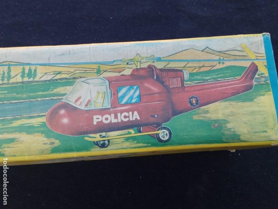 Juguetes antiguos Jyesa: HELICÓPTERO ELÉCTRICO DE POLICÍA - JYESA – CON CAJA – Nº 166 – AÑOS 60. - Foto 5 - 194222063