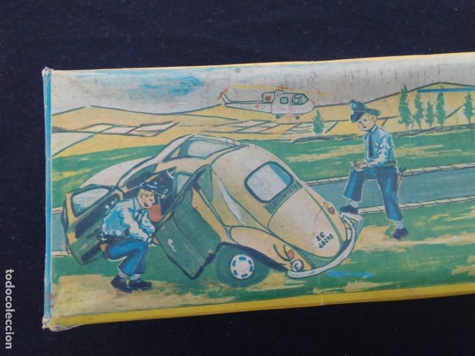 Juguetes antiguos Jyesa: HELICÓPTERO ELÉCTRICO DE POLICÍA - JYESA – CON CAJA – Nº 166 – AÑOS 60. - Foto 6 - 194222063