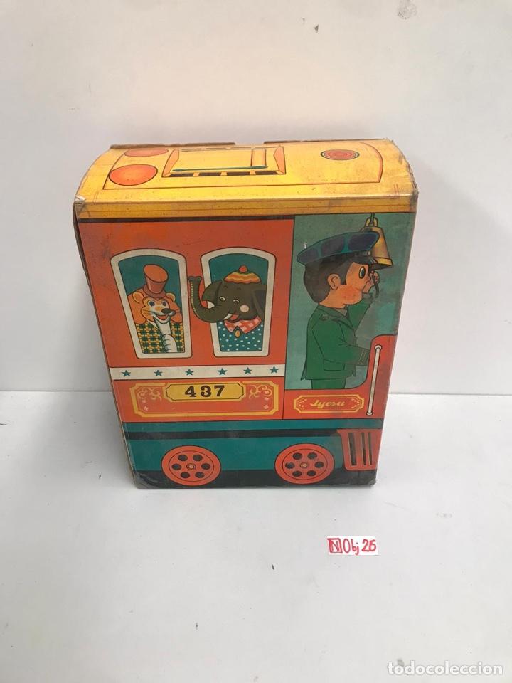 ANTIGUO TRANVIA ELECTRICO EN HOJALATA LITOGRAFIADA KIDI REF. 437 DE JYE JYESA - AÑO 1960S. (Juguetes - Marcas Clásicas - Jyesa)
