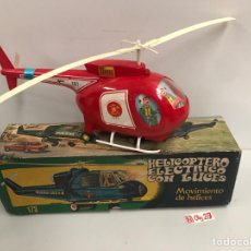 Juguetes antiguos Jyesa: HELICOPTERO JYESA INTERPOL Nº 179 CON CAJA. Lote 194900130