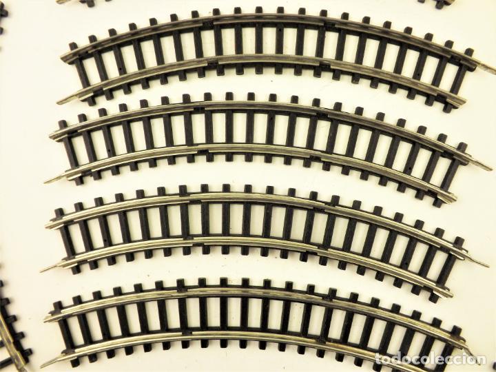 Juguetes antiguos Jyesa: Jyesa conjunto de vías H0. Rail metal - Foto 2 - 196984402