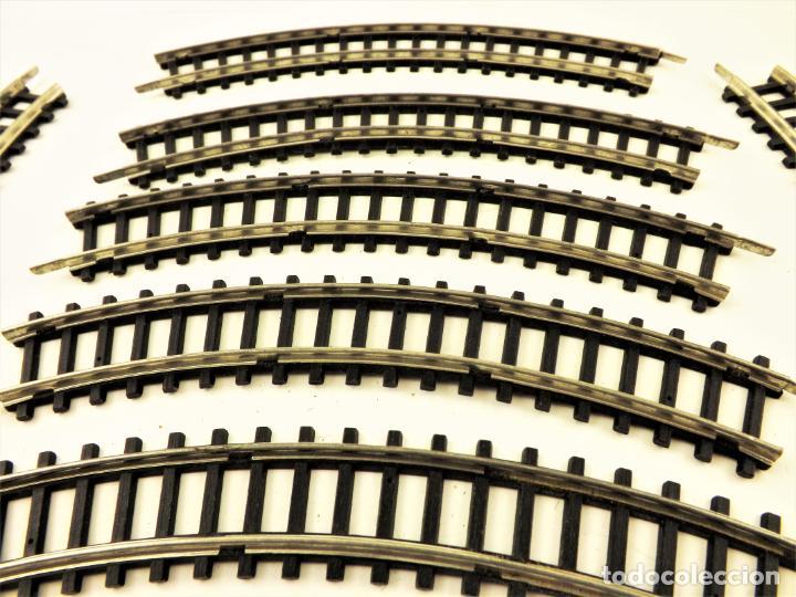 Juguetes antiguos Jyesa: Jyesa conjunto de vías H0. Rail metal - Foto 3 - 196984402