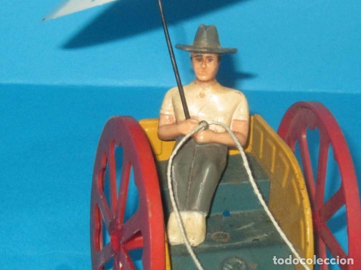 Juguetes antiguos Jyesa: JYESA AVESTRUZ CON CARRO, Y CAJA ,AÑOS 1950 FUNCIONANDO - Foto 4 - 200881797