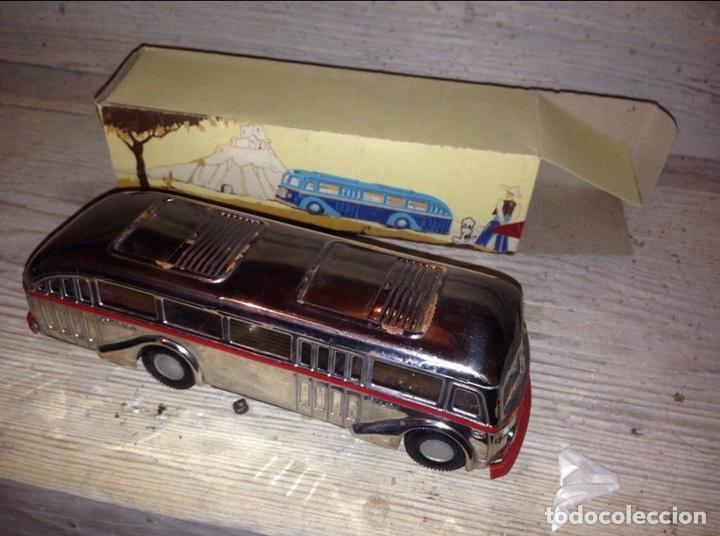 Juguetes antiguos Jyesa: IMPRESIONANTE Autobús Jyesa 1940 Original - Foto 3 - 204633327