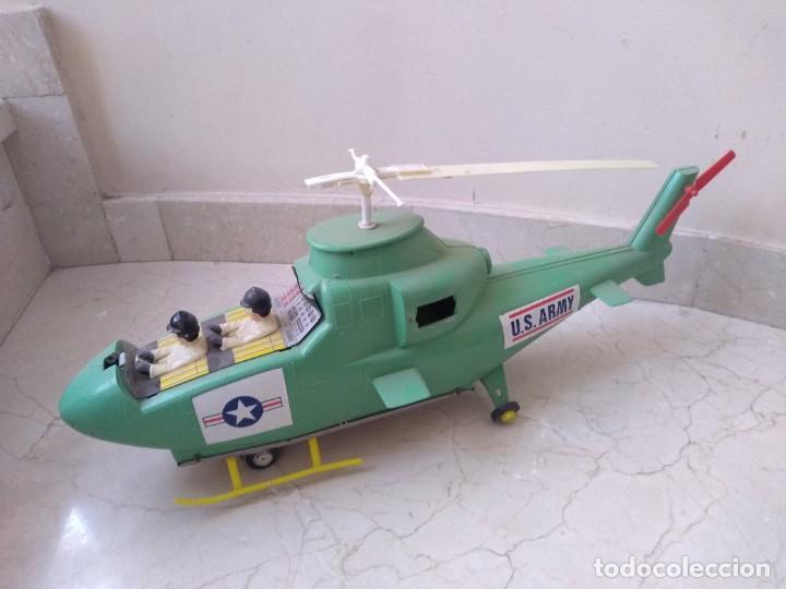 Juguetes antiguos Jyesa: Antiguo helicoptero hojalata de juguete Jye US Army - Foto 2 - 208574015
