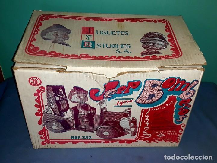 Juguetes antiguos Jyesa: JEEP DE BOMBEROS Nº 352 DE DE HOJALATA Y PLASTICO DE JYESA CON CAJA ORIGINAL AÑOS 60 - Foto 4 - 219406121