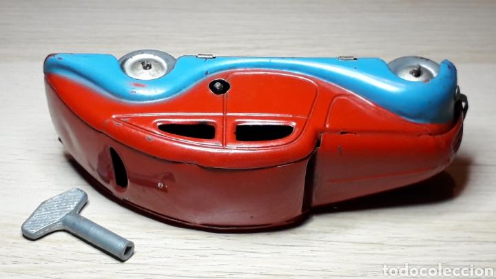 Juguetes antiguos Jyesa: Auto coche Lata 12,5 cms Mecanismo a cuerda Juguetes JYE Jyesa Ibi Alicante España. Original años 40 - Foto 7 - 222720725