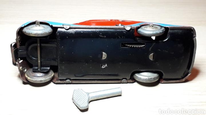 Juguetes antiguos Jyesa: Auto coche Lata 12,5 cms Mecanismo a cuerda Juguetes JYE Jyesa Ibi Alicante España. Original años 40 - Foto 8 - 222720725