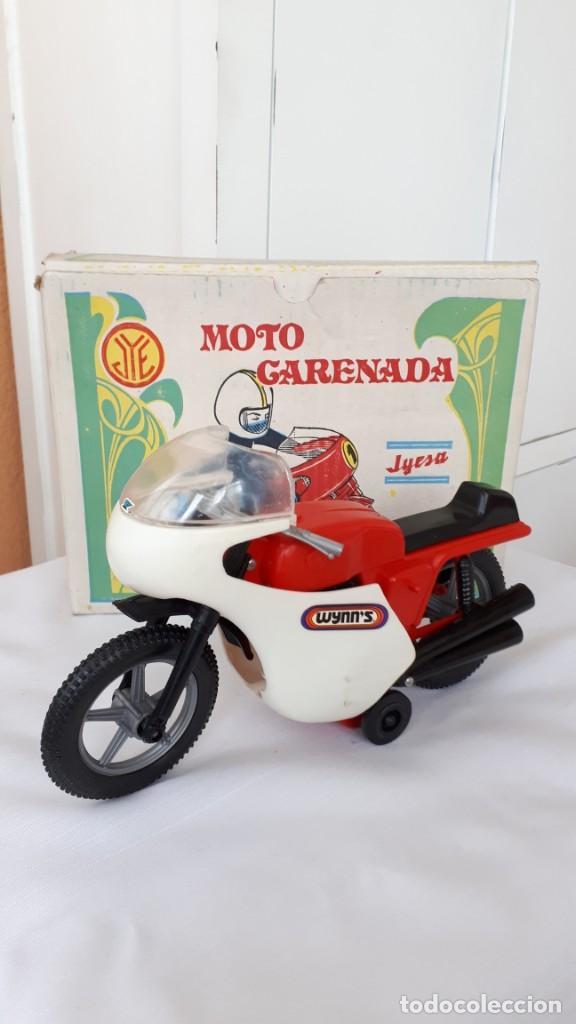 MOTO CARENADA JYESA, CAJA ORIGINAL, AÑOS 70 (Juguetes - Marcas Clásicas - Jyesa)
