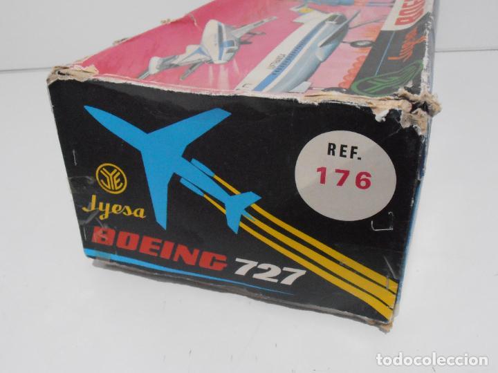 Juguetes antiguos Jyesa: AVION BOEING 727 JYESA, REF 176, IBERIA, CAJA ORIGINAL - Foto 11 - 275124648