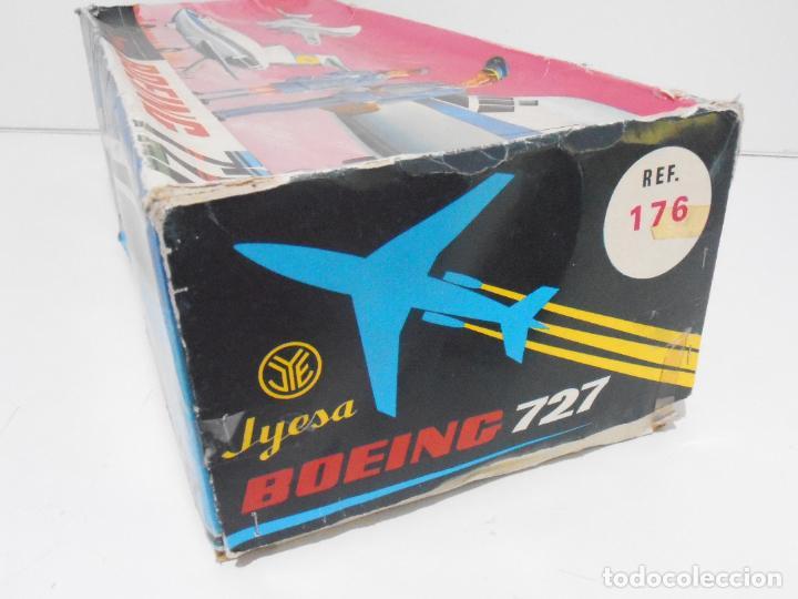 Juguetes antiguos Jyesa: AVION BOEING 727 JYESA, REF 176, IBERIA, CAJA ORIGINAL - Foto 13 - 275124648
