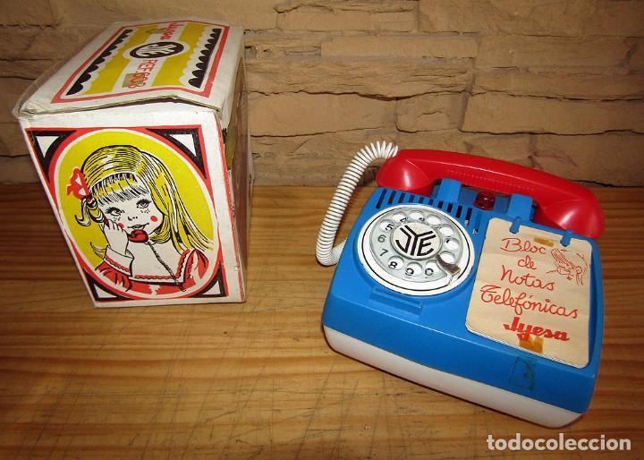 ANTIGUA HUCHA TELEFONO DE JYESA - JYE - NUEVO Y EN SU CAJA ORIGINAL - AÑOS 70 (Juguetes - Marcas Clásicas - Jyesa)