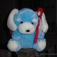 Brinquedos Antigos: PELUCHE PERRITO AZUL CON LAZITOS (CAJA 48). Lote 27505965