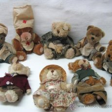 Juguetes Antiguos: COLECCION 8 OSITOS PELUCHE VINTAGE - MADE IN SPAIN - THE BEARS FAMILY COLLECTION. Lote 36659822