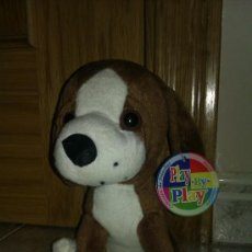 Juguetes Antiguos: PELUCHE PERRO PLAY BY PLAY MARRON. Lote 37271565