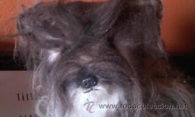 Juguetes Antiguos: Antiguo perro yorkshire de peluche ojos de cristal. 1965. KAMAR JAPAN - Foto 3 - 37772782