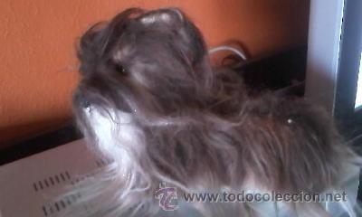 Juguetes Antiguos: Antiguo perro yorkshire de peluche ojos de cristal. 1965. KAMAR JAPAN - Foto 6 - 37772782
