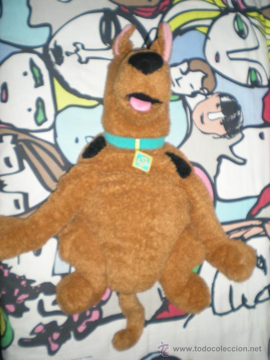 Juguetes Antiguos: precioso muñeco grande de scooby doo para guarda pijama - Foto 3 - 38839225