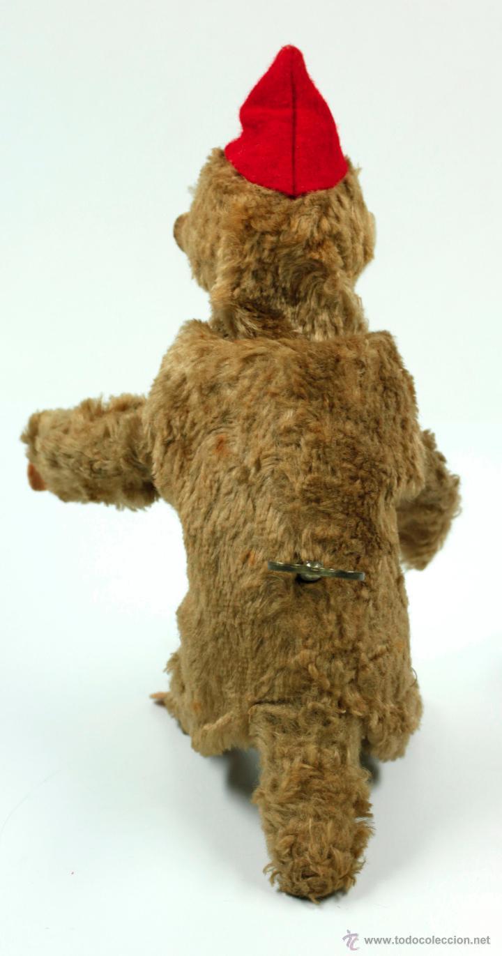 Juguetes Antiguos: MONO A CUERDA, marcas en la llave de la cuerda: CLAN IBI. 20 cm de altura - Foto 2 - 45369560