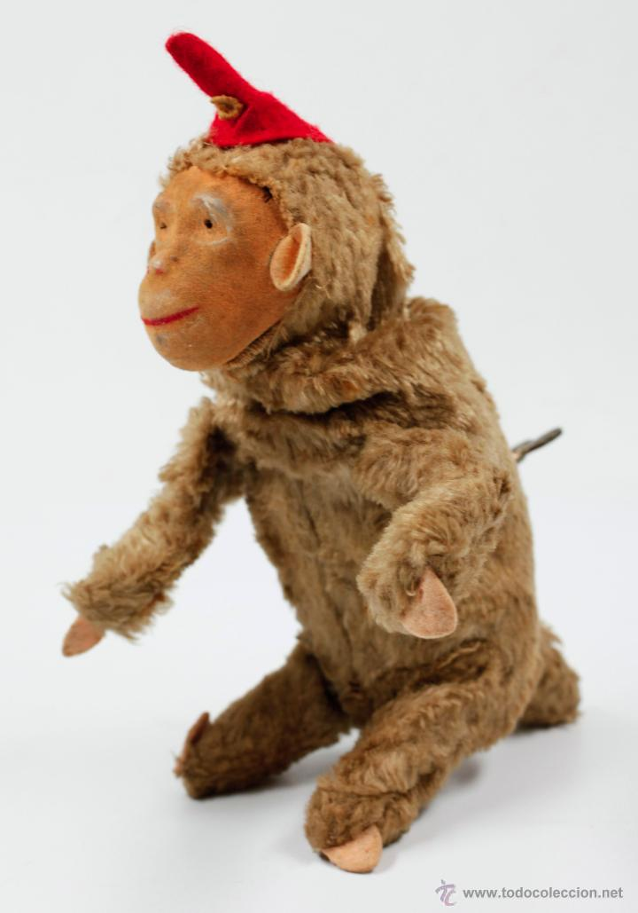 Juguetes Antiguos: MONO A CUERDA, marcas en la llave de la cuerda: CLAN IBI. 20 cm de altura - Foto 3 - 45369560