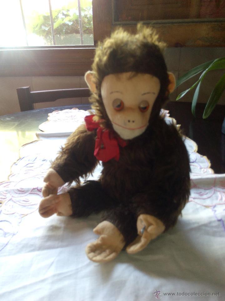 Juguetes Antiguos: Antiguo mono de peluche articulado,mutzli m.c.z. swisse made. años 60 - Foto 2 - 50195125