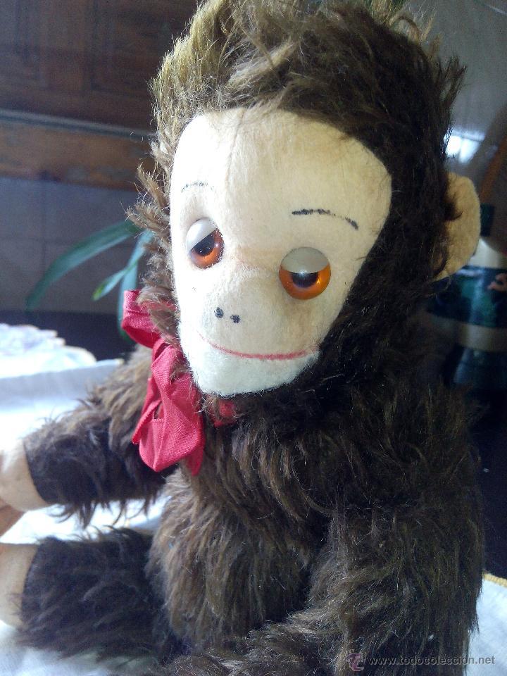 Juguetes Antiguos: Antiguo mono de peluche articulado,mutzli m.c.z. swisse made. años 60 - Foto 3 - 50195125