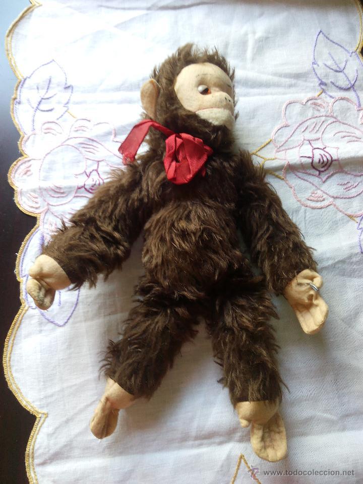 Juguetes Antiguos: Antiguo mono de peluche articulado,mutzli m.c.z. swisse made. años 60 - Foto 4 - 50195125