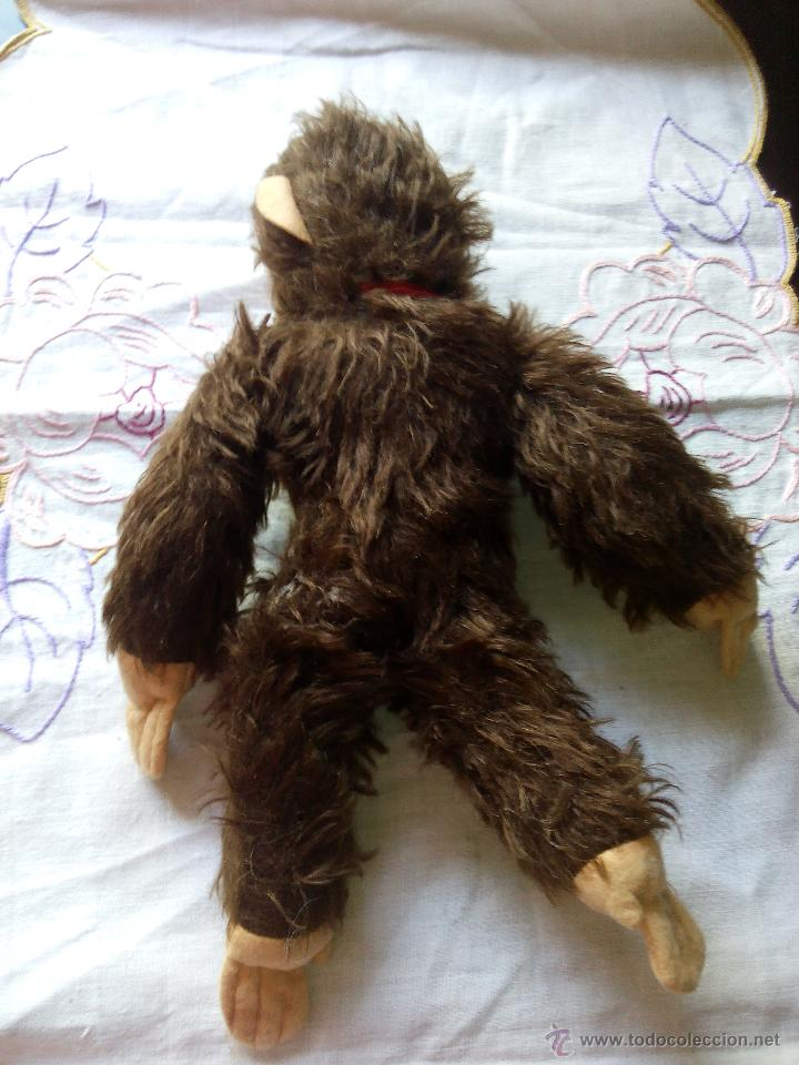 Juguetes Antiguos: Antiguo mono de peluche articulado,mutzli m.c.z. swisse made. años 60 - Foto 5 - 50195125