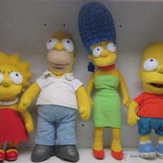 Juguetes Antiguos: LOTE 4 PELUCHES LOS SIMPSONS,HOMER,MARGE,BART Y LISA DE APPLAUSE,32 A 50 CMTS.. Lote 51104680