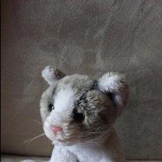 Peluche super suave gatito Molly, gato blanco y gris monísimo