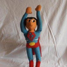 Juguetes Antiguos: PELUCHE SUPERMAN 65 CM AÑOS 70 MUY RARO. Lote 56928896