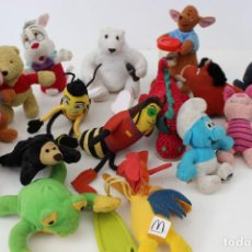 Juguetes Antiguos: PELUCHES PROMOCIONALES MC DONALD`S, HAPPY MEAL. LOTE DE MÁS DE 15 MUÑECOS. WINNIE THE POO, BEE MOVIE. Lote 76614399