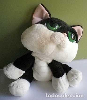 Juguetes Antiguos: gato gatito loki bicolor blanco y negro peluche russ berrie - Foto 2 - 80948032
