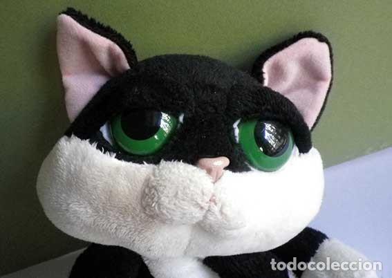 Juguetes Antiguos: gato gatito loki bicolor blanco y negro peluche russ berrie - Foto 3 - 80948032